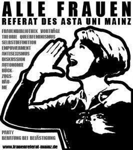 Logo Allefrauenreferat Uni MAinz