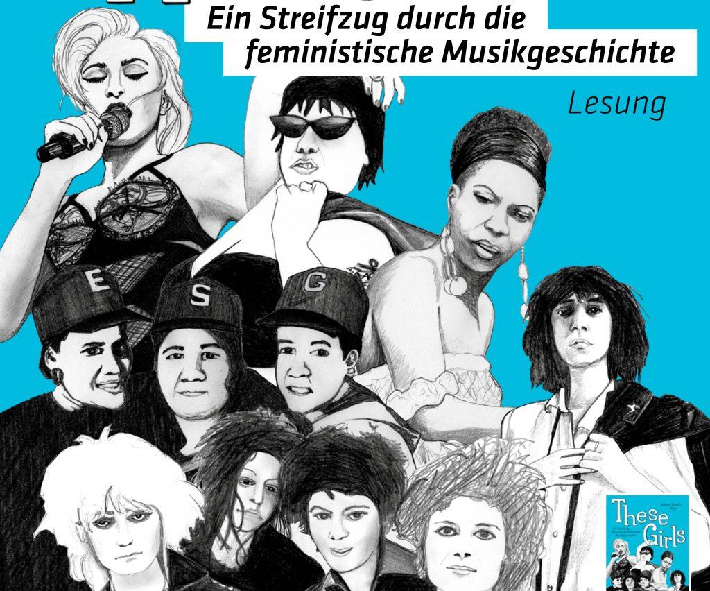 Bild von brühmte Musikkerinnen wie Madonna, Patti Smith, Aretha Fraklin oder Riot Grrrls