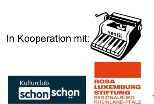 Logos von Ventilverlag,. Rosa Luxemburg Stiftung und Schon Schön