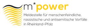Logo und Link der Meldestelle für menschfeindliche,rassistische und antisemitische Vorfälle Rheinland Pfalz